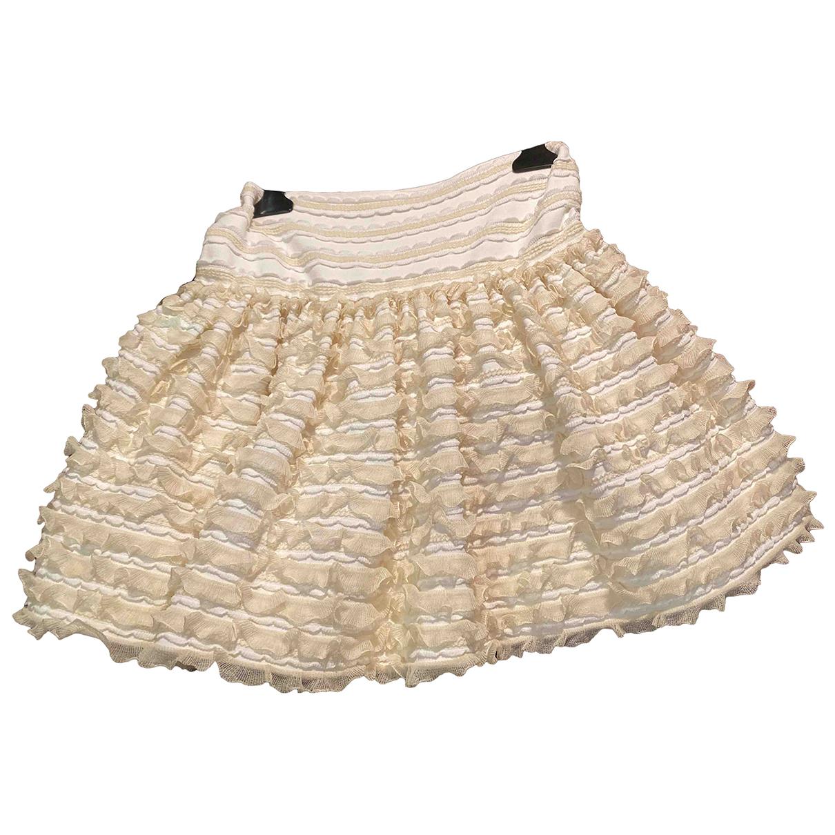 Alaïa \N Beige Cotton skirt for Women 36 FR