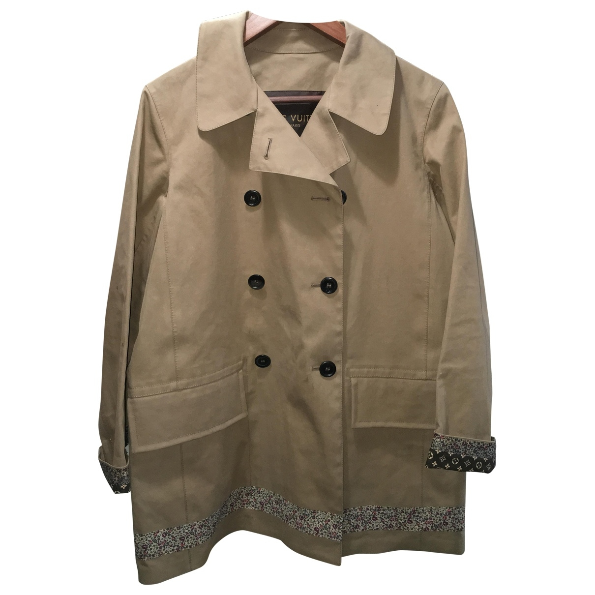 Louis Vuitton \N Trench in  Beige Polyester