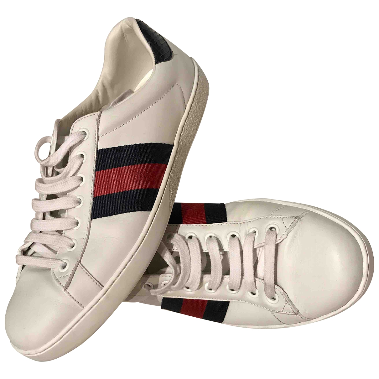 Gucci Ace White Leather Trainers for Men 6.5 UK