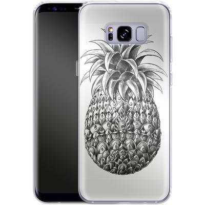 Samsung Galaxy S8 Plus Silikon Handyhuelle - Ornate Pineapple von BIOWORKZ