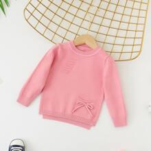 Pullover mit Schleife und Stufen
