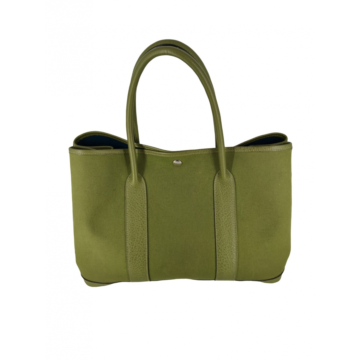 Hermès Garden Party Green Leather handbag for Women \N