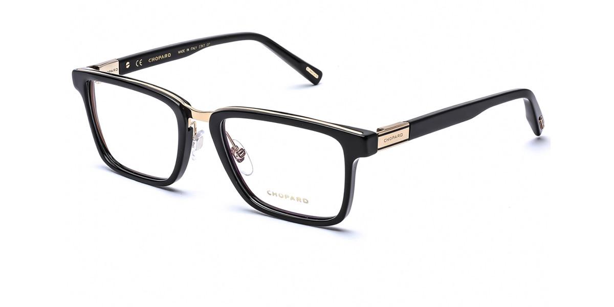 Chopard VCH252 700 Mens Glasses Black Size 53 - Free Lenses - HSA/FSA Insurance - Blue Light Block Available