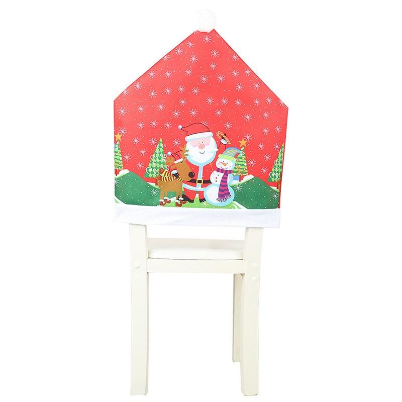 Print Arm Chair Polyester Christmas Cartoon