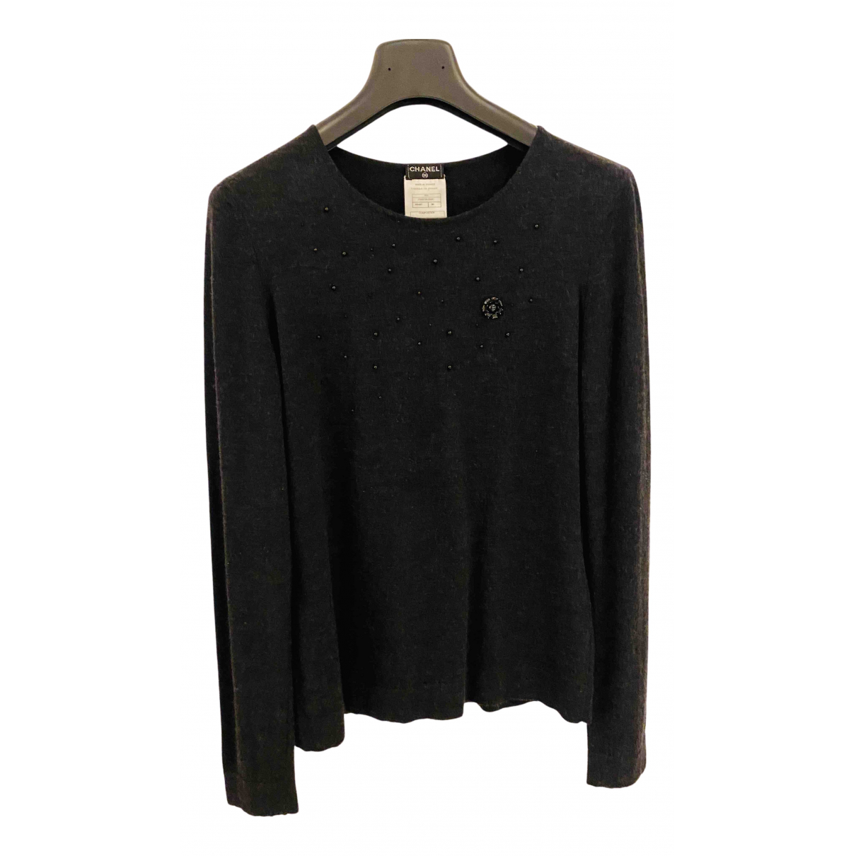 Chanel N Anthracite Wool Knitwear for Women 38 FR