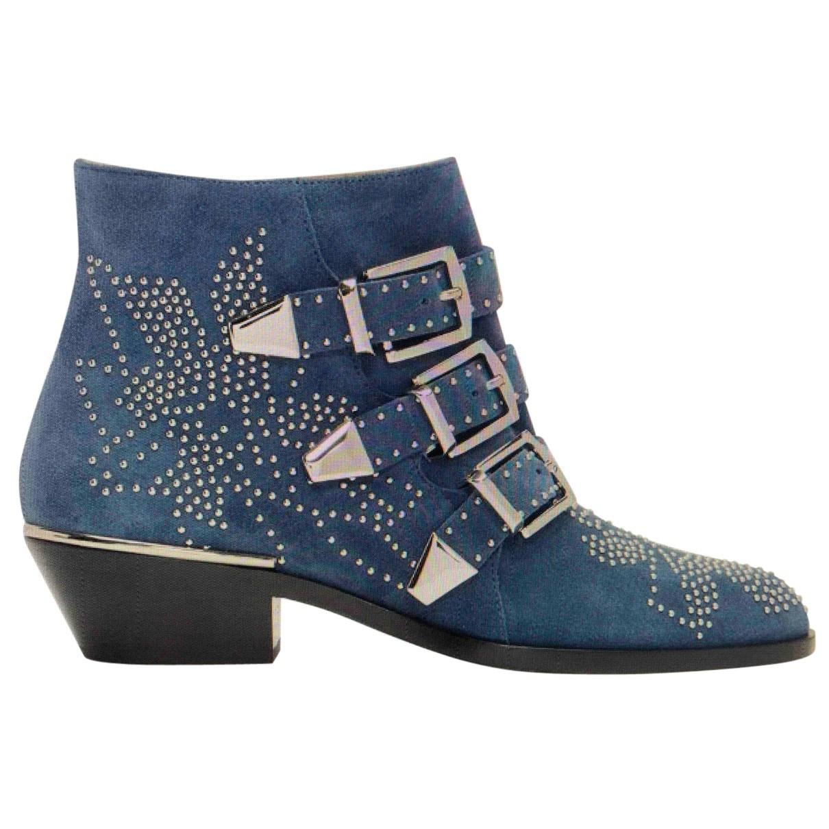 Chloe - Boots Susanna pour femme en suede - bleu