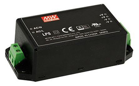 Mean Well , 45W Encapsulated Switch Mode Power Supply, 15V dc, Encapsulated