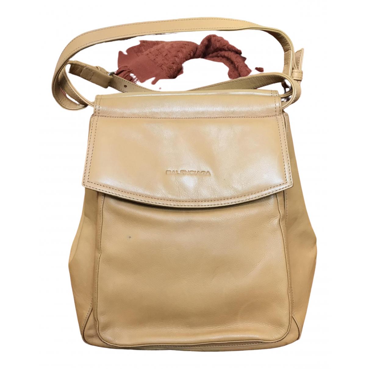 Balenciaga \N Camel Leather handbag for Women \N