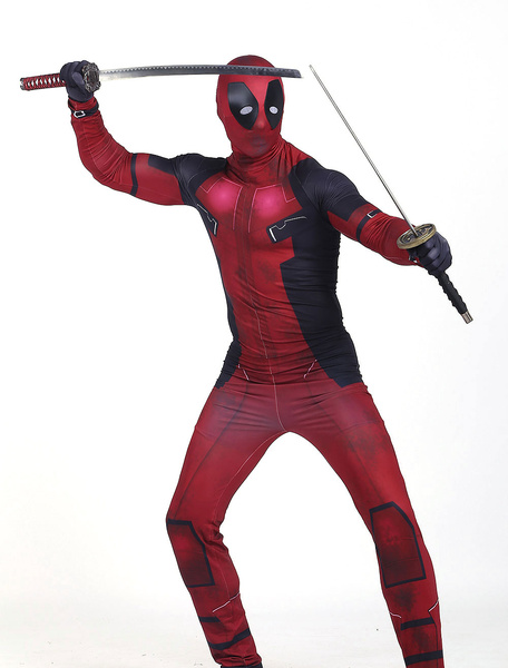 Milanoo Marvel Comics Deadpool Halloween Wade Wilson Cosplay Costume