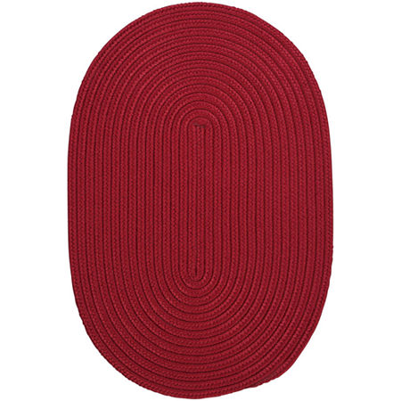 Colonial Mills Nantucket Reversible Braided Indoor/Outdoor Oval Rug, One Size , Red