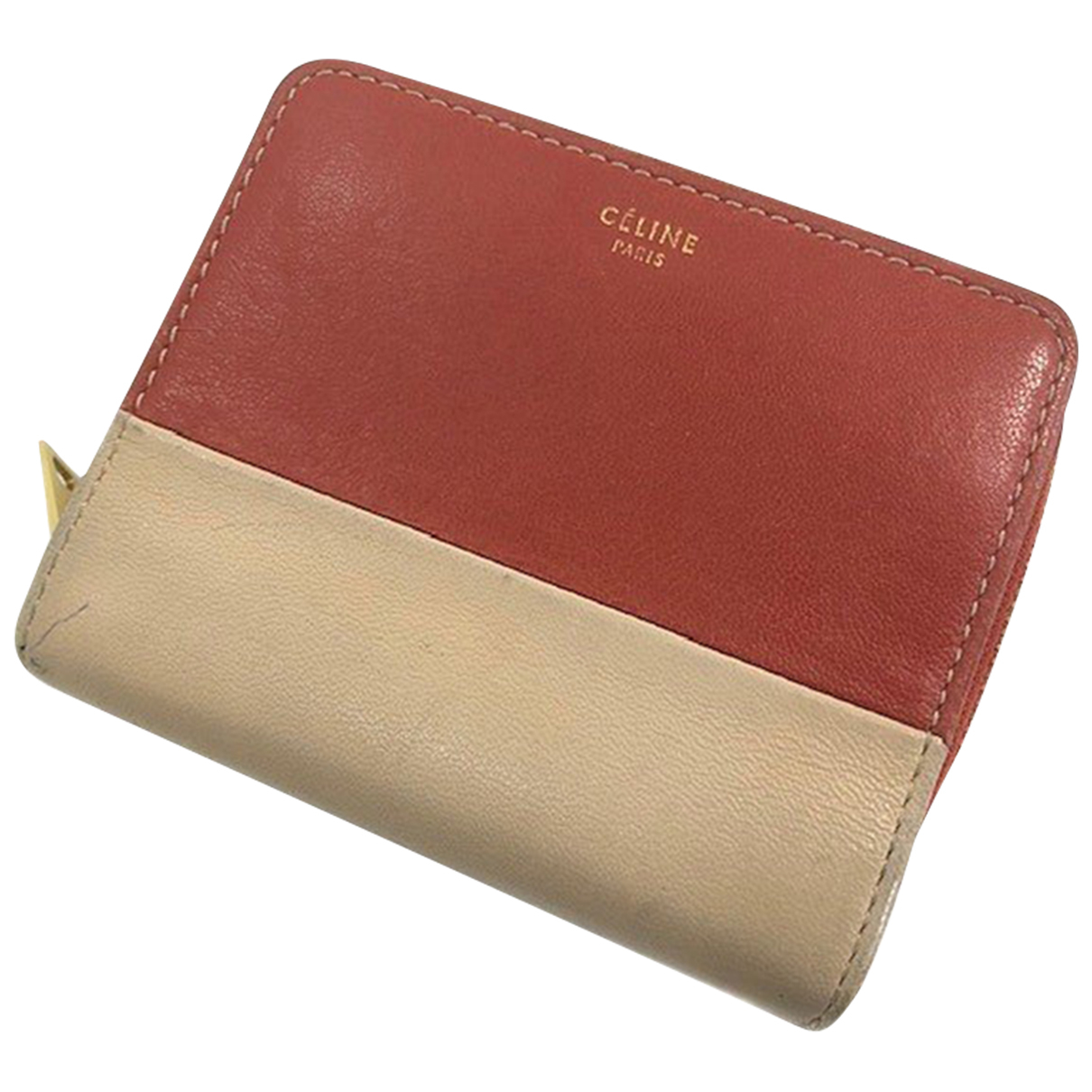 Celine \N Red Leather wallet for Women \N