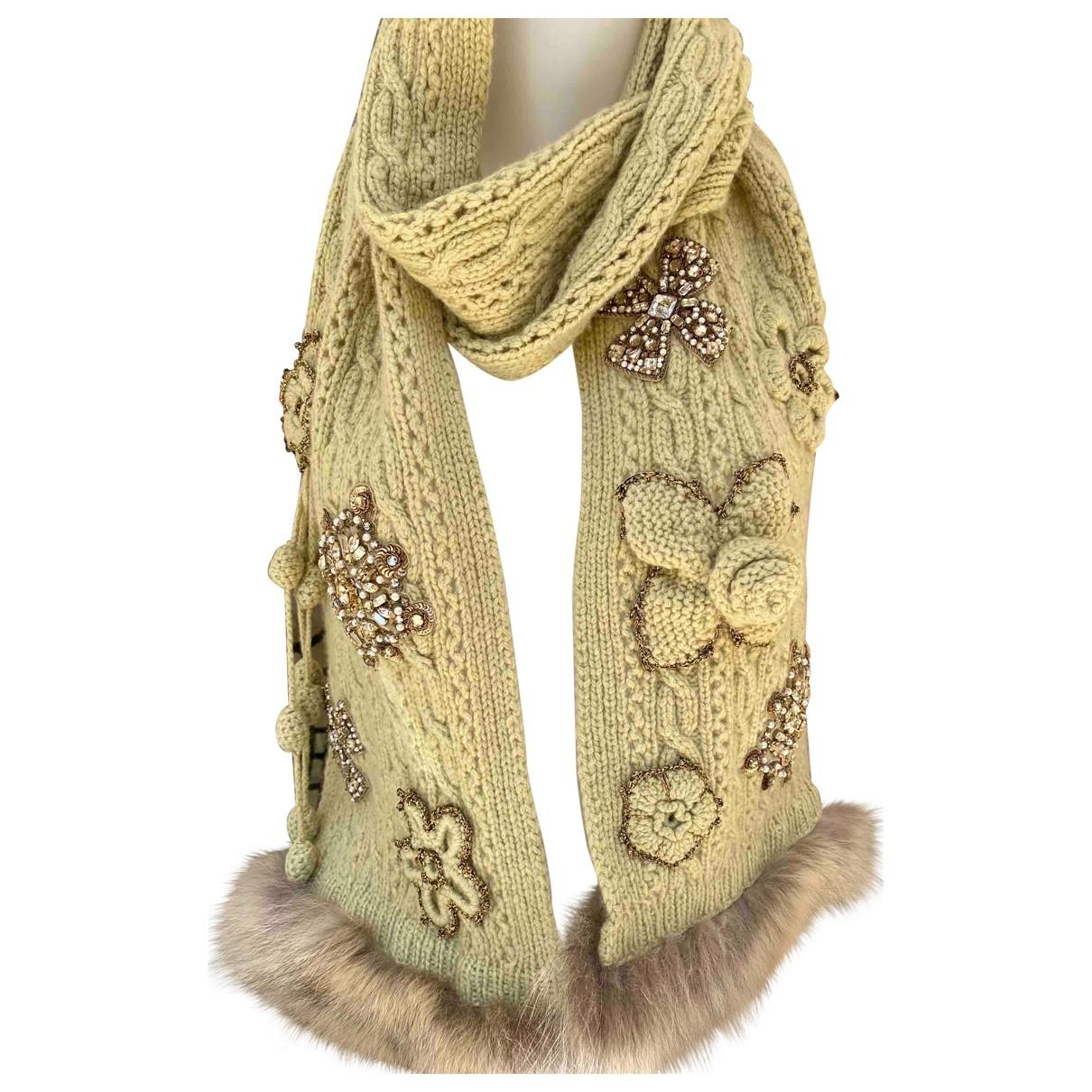 Oscar De La Renta \N Green Cashmere scarf for Women \N