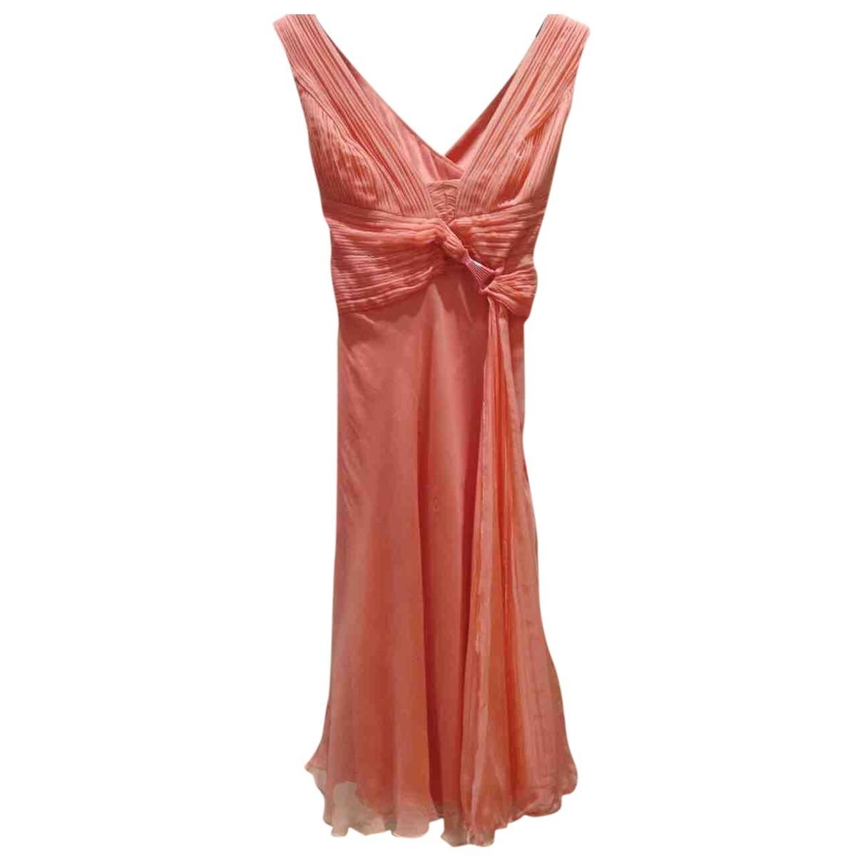 Versace - Robe   pour femme en soie - rose