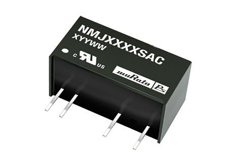 Murata Power Solutions NMJ 1W Isolated DC-DC Converter Through Hole, Voltage in 4.5 → 5.5 V dc, Voltage out 15V