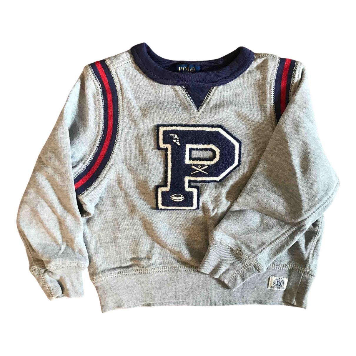 Polo Ralph Lauren - Pull   pour enfant en coton - gris