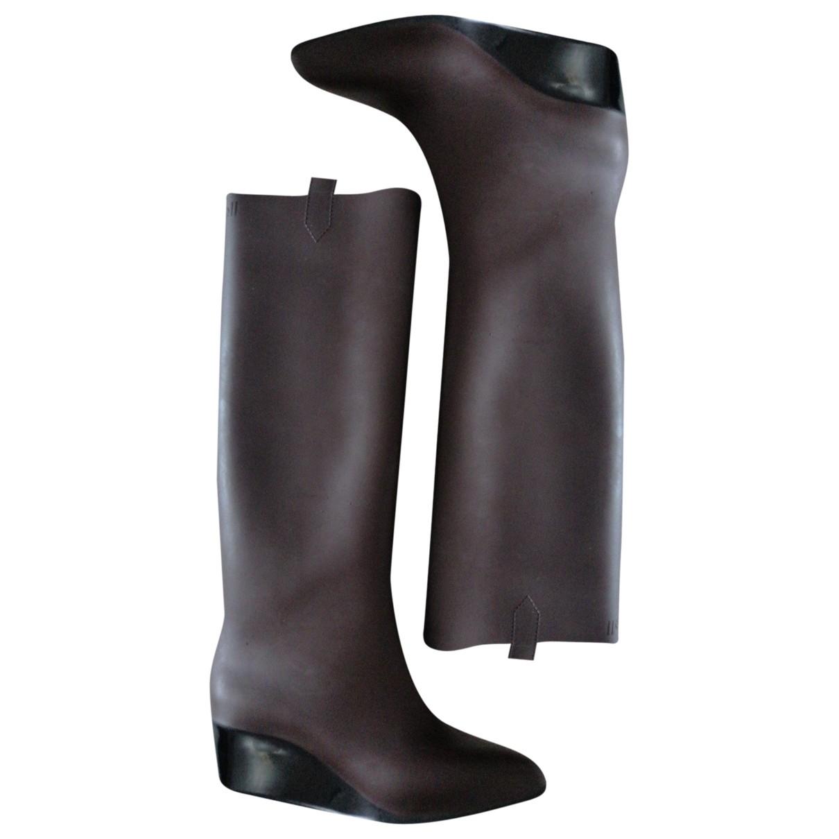Kartell - Bottes   pour femme en caoutchouc - marron