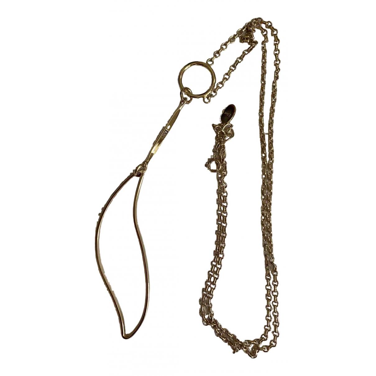 Dior - Collier   pour femme en or et acier - dore