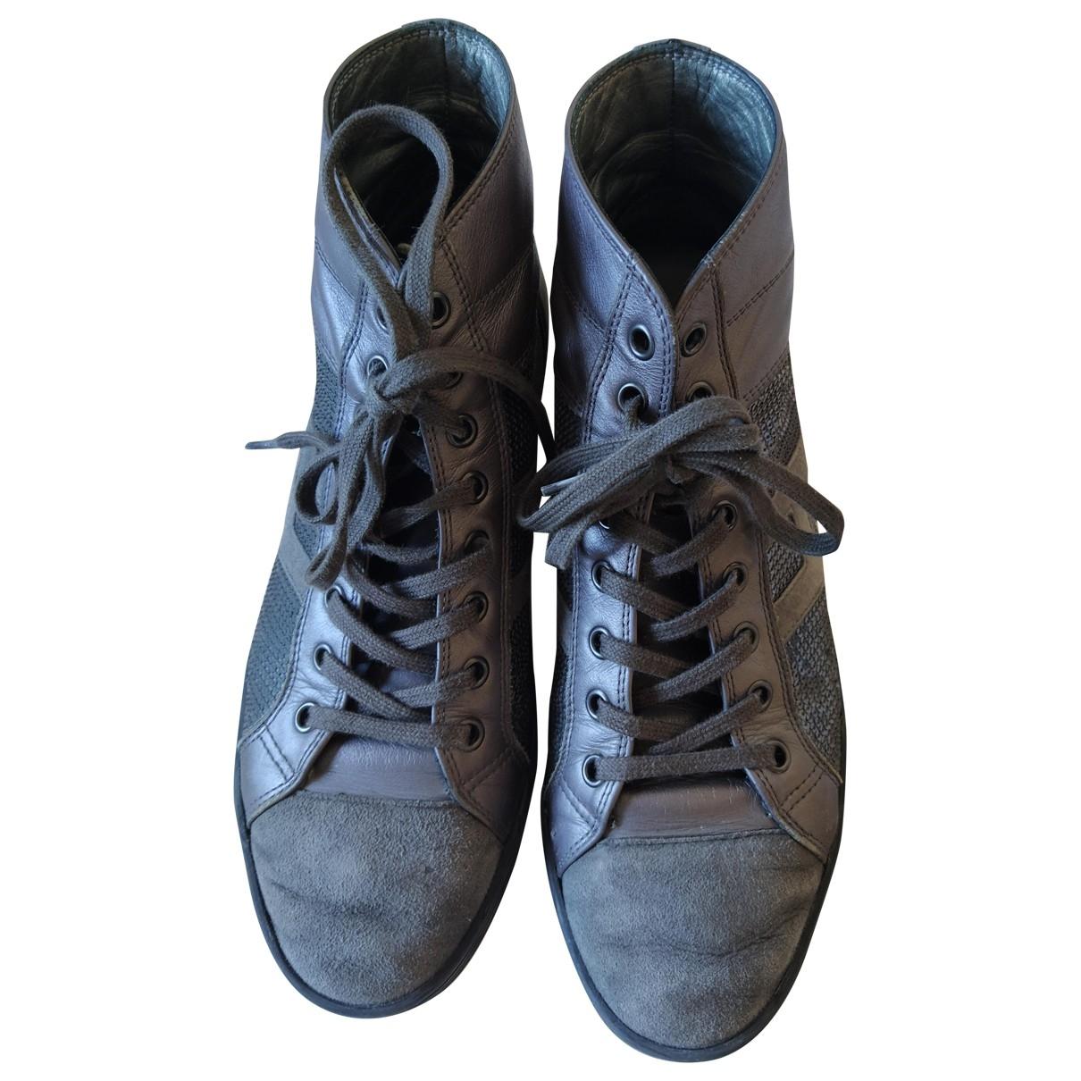 Hogan \N Grey Glitter Ankle boots for Women 39 EU