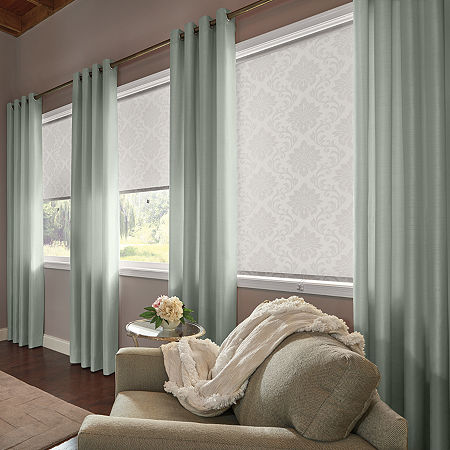 Bali Valencia Custom Light-Filtering Grommet-Top Single Curtain Panel, One Size , Blue