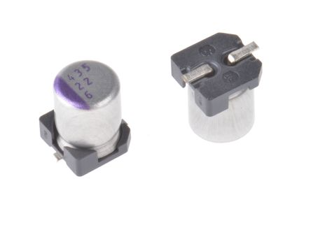 Panasonic 22μF Polymer Capacitor 6.3V dc, Surface Mount - 6SVP22M (5)