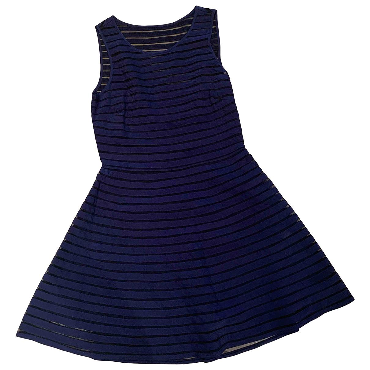Parker Ny - Robe   pour femme en soie - bleu