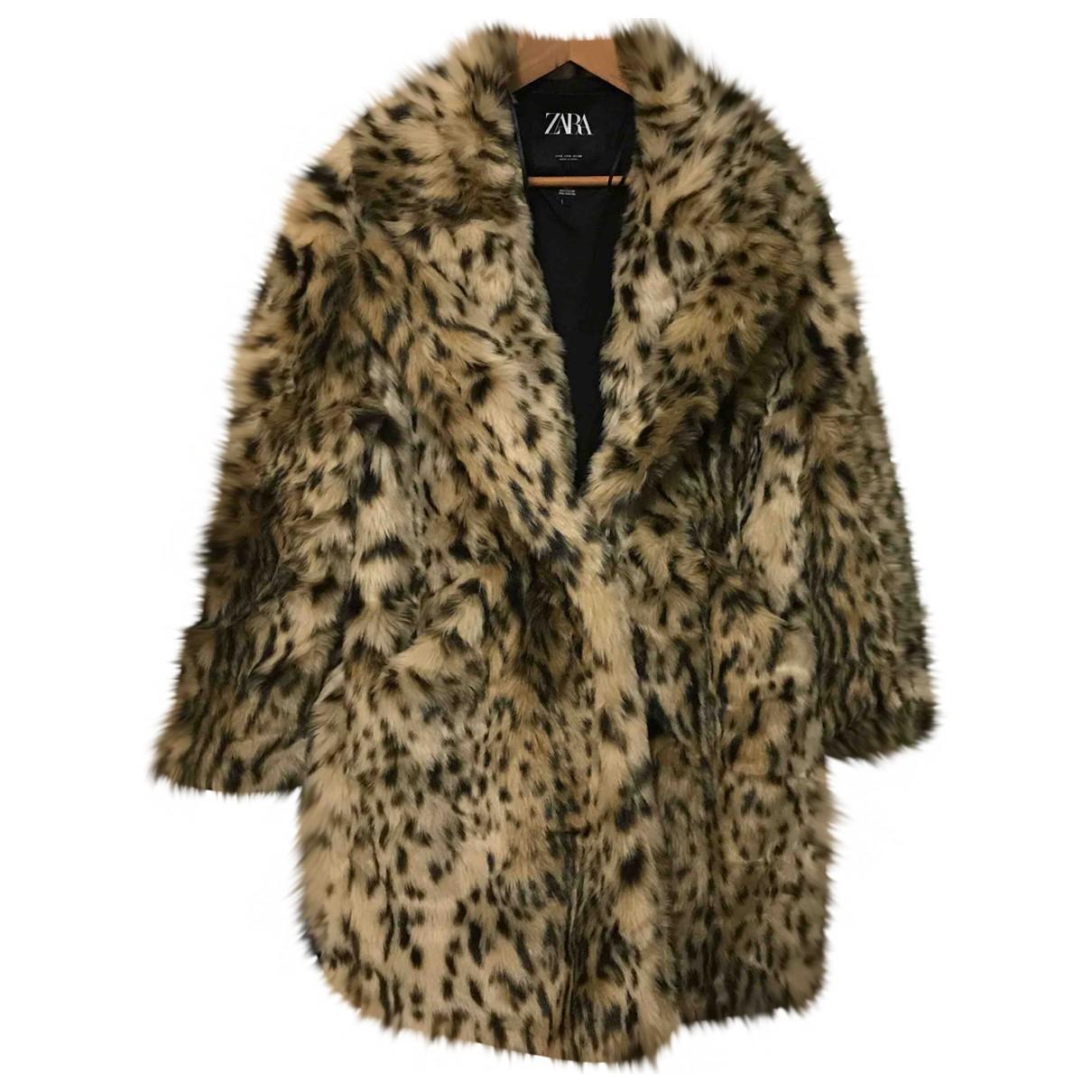 Zara - Manteau   pour femme en fourrure synthetique