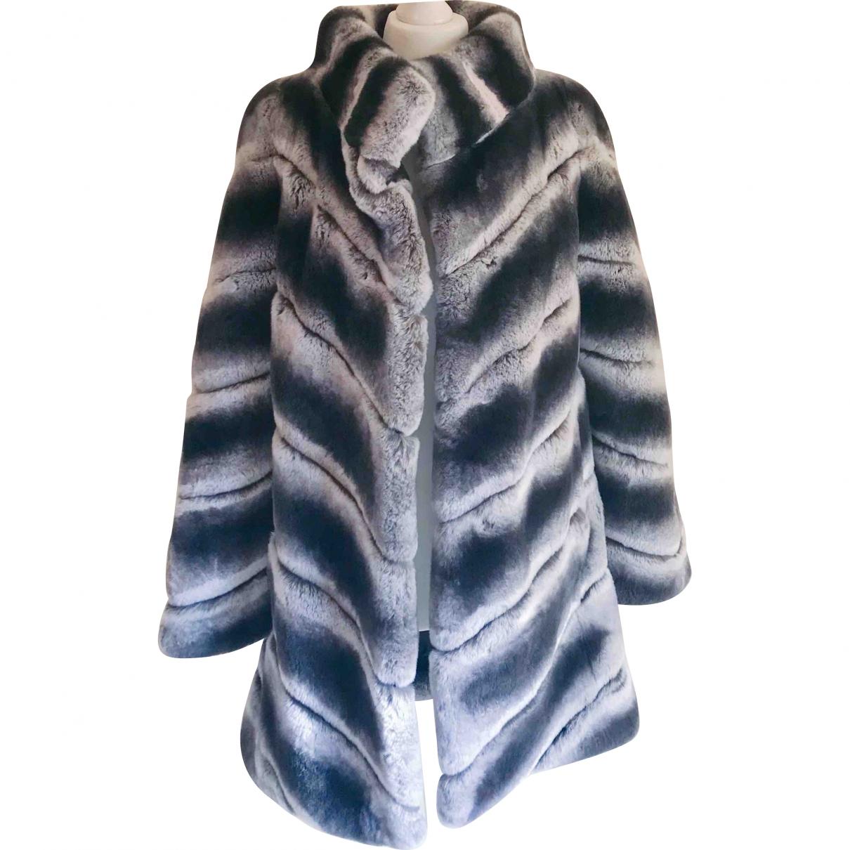 Yves Salomon \N Grey Rabbit coat for Women 34 FR