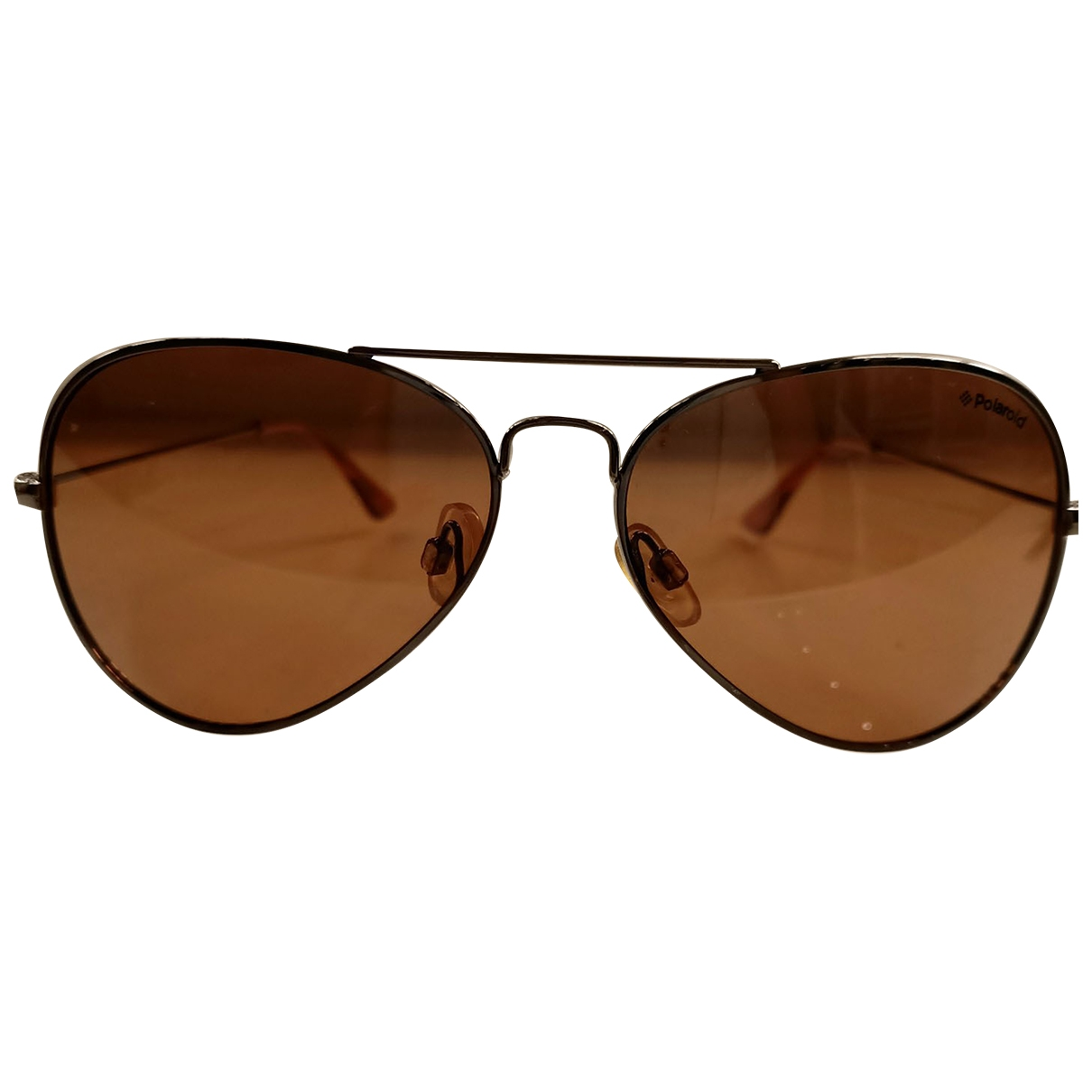Polaroid \N Brown Metal Sunglasses for Women \N