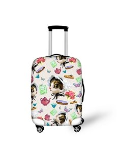 3D Little Cat Printed Working Style Painted Luggage Protect Cover