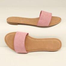 Sandalias con banda de punta abierta