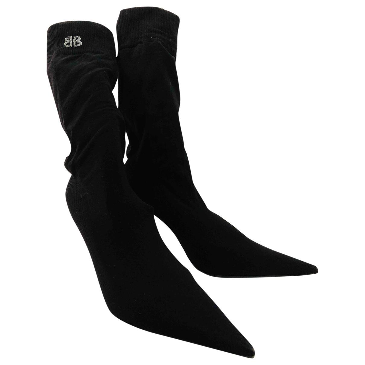 Balenciaga \N Stiefel in  Schwarz Leinen