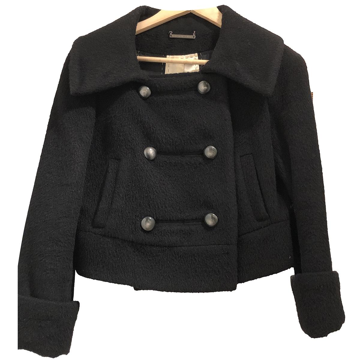 Diane Von Furstenberg \N Black Wool jacket for Women 4 US