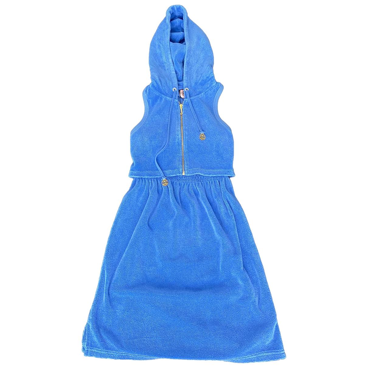 Juicy Couture - Robe   pour femme en eponge - turquoise