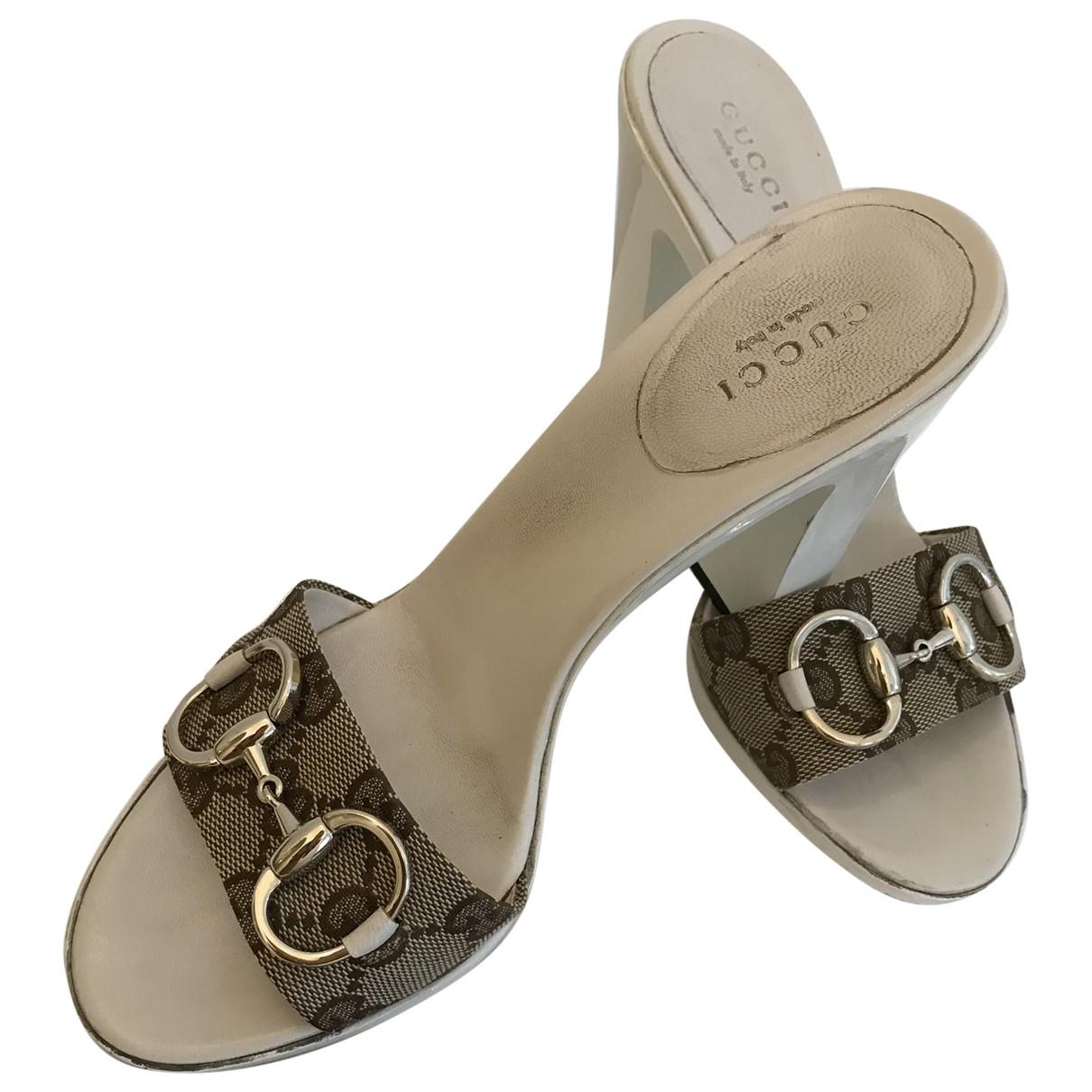 Gucci N White Cloth Sandals for Women 36 EU