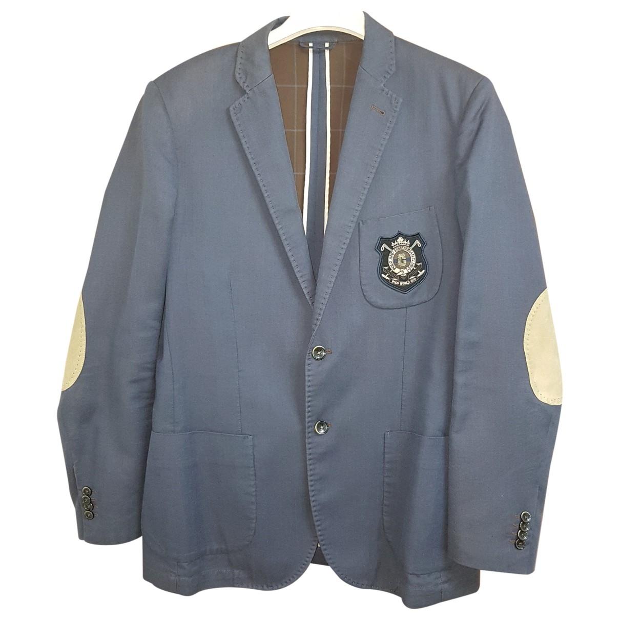 Pierre Cardin \N Blue Cotton jacket  for Men 52 IT