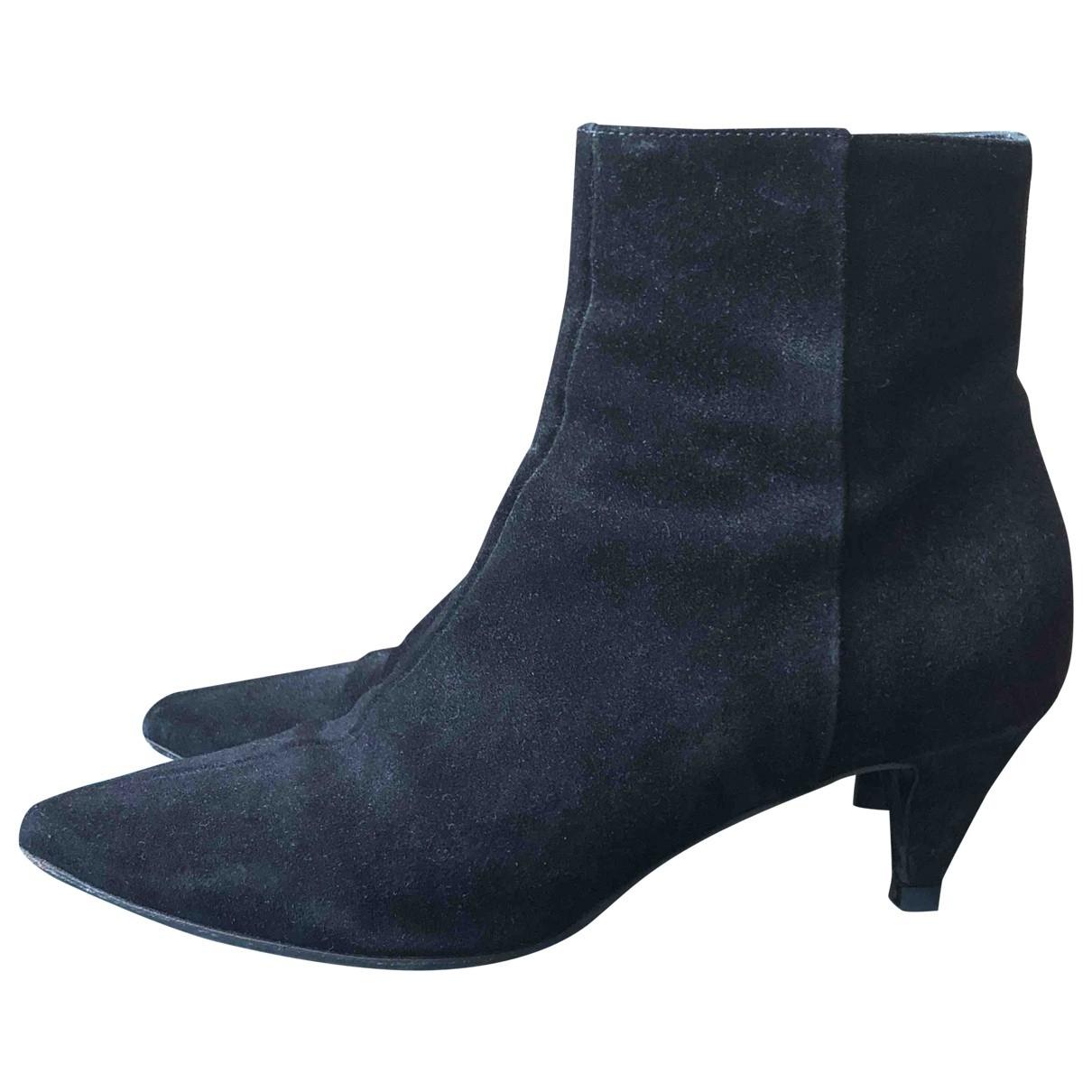 Aeyde - Boots   pour femme en suede - noir