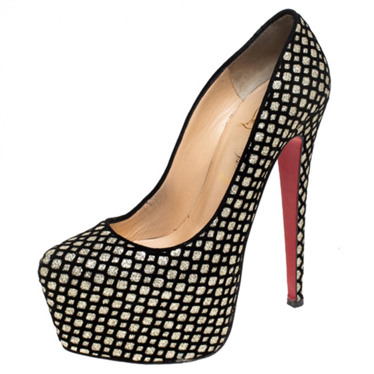 Christian Louboutin N Black Leather Heels for Women 7.5 US