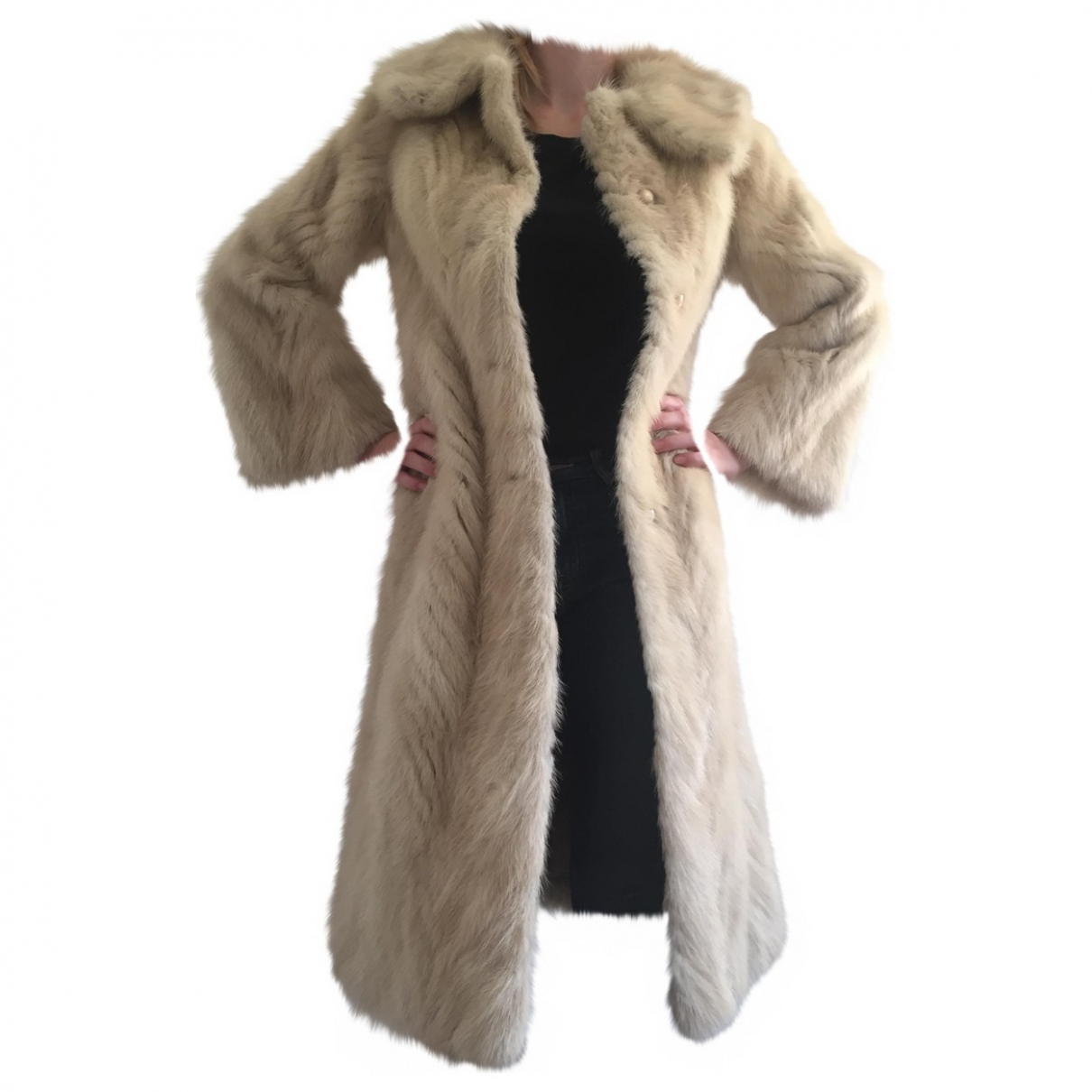 Non Signé / Unsigned \N Mink coat for Women 36 FR