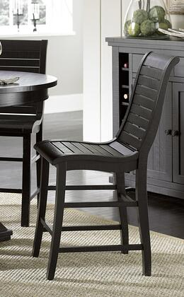 Willow P812-63 Counter Chairs (Set of 2) with Stretchers  Tapered Legs and Slat Back in Distressed