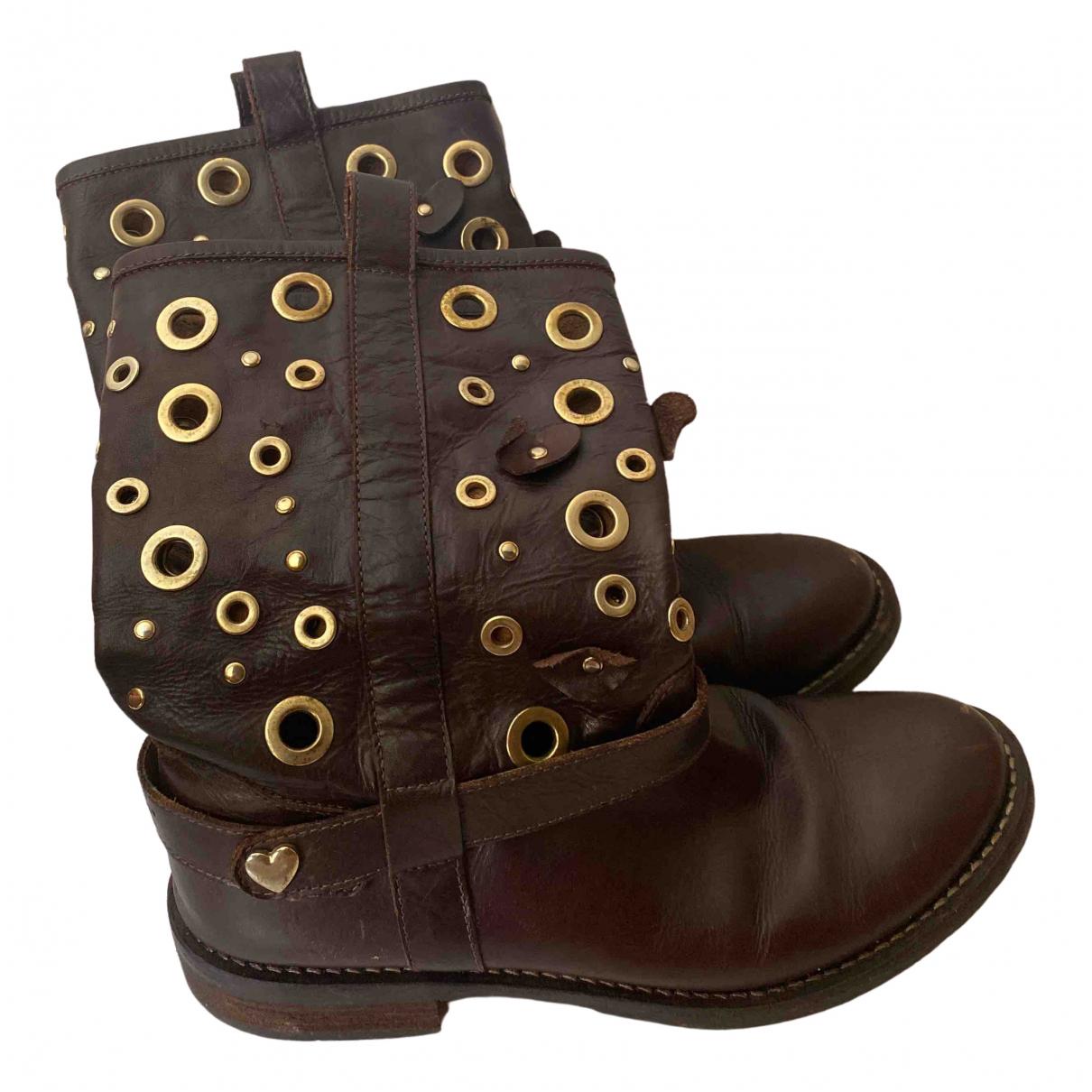 Twin Set \N Brown Cloth Boots for Women 39 EU