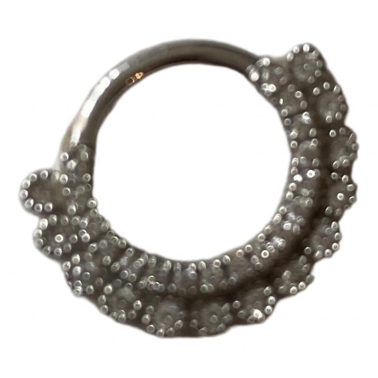 Maria Tash \N White White gold Earrings for Women \N