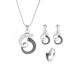 Pendant Necklace & Earrings & Ring Set