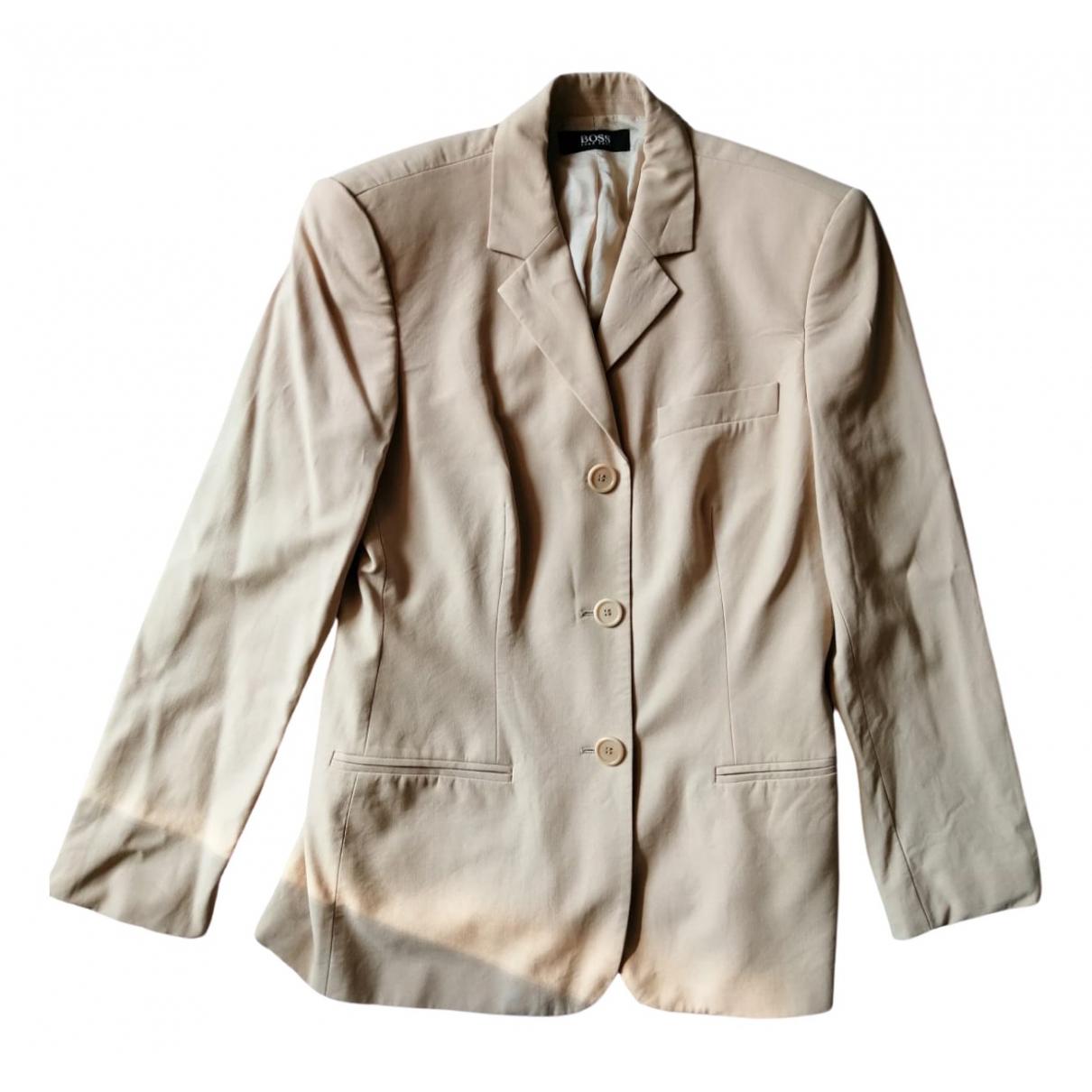 Boss \N Beige Wool jacket for Women 40 FR