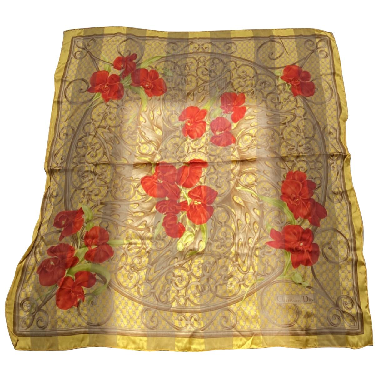 Dior \N Yellow Silk scarf for Women \N