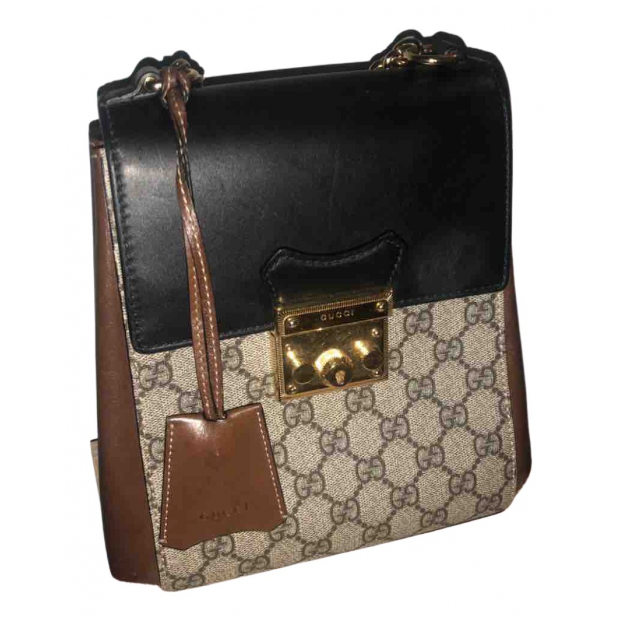 Gucci Padlock Beige Cloth backpack for Women \N