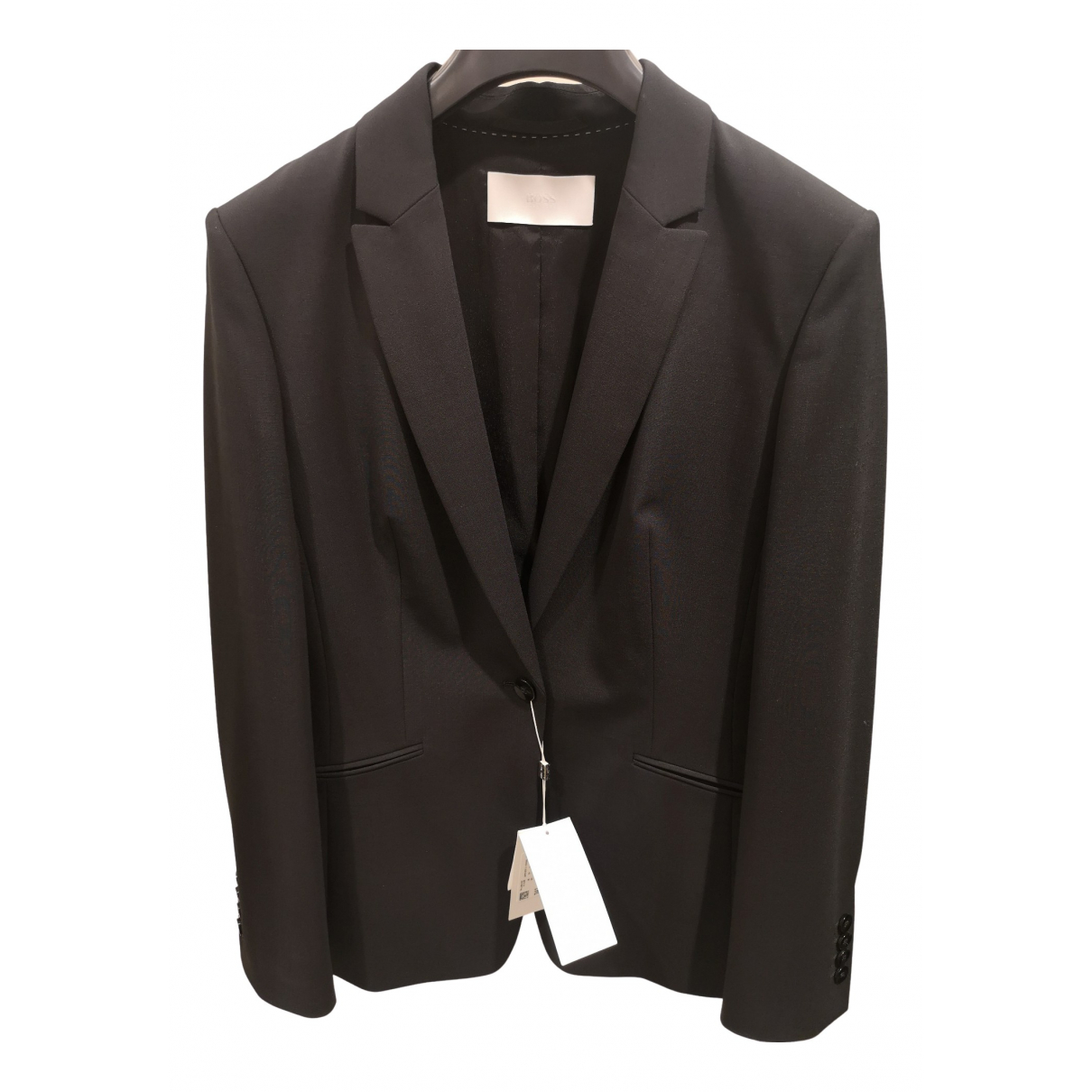 Boss N Black Wool jacket for Women 40 FR
