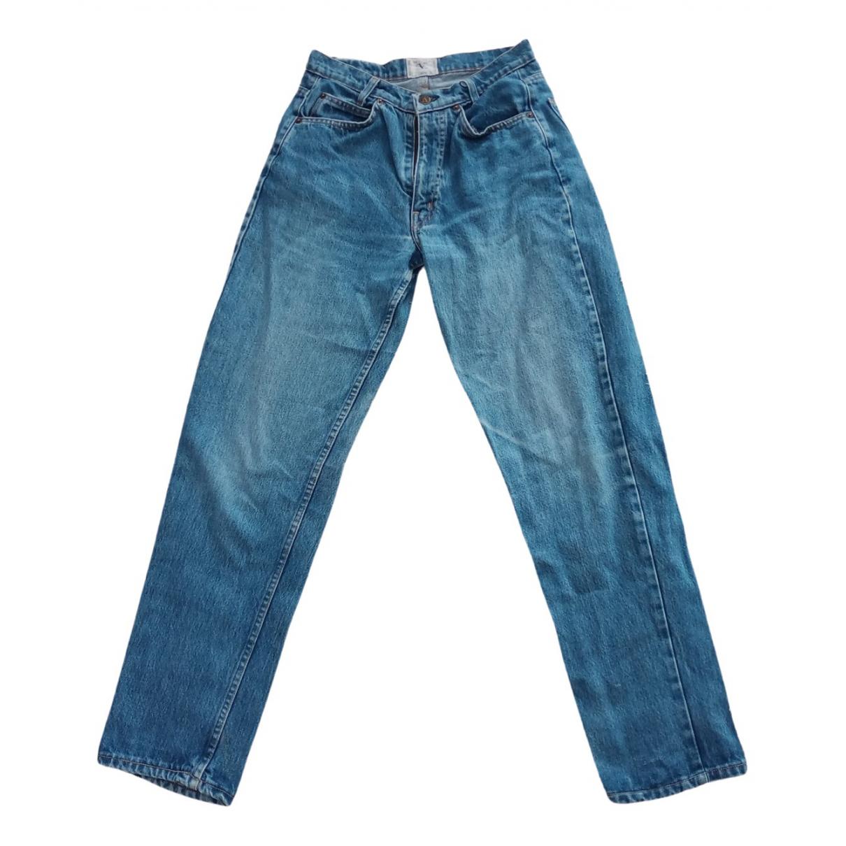 Pantalones en Algodon Azul Valentino Garavani
