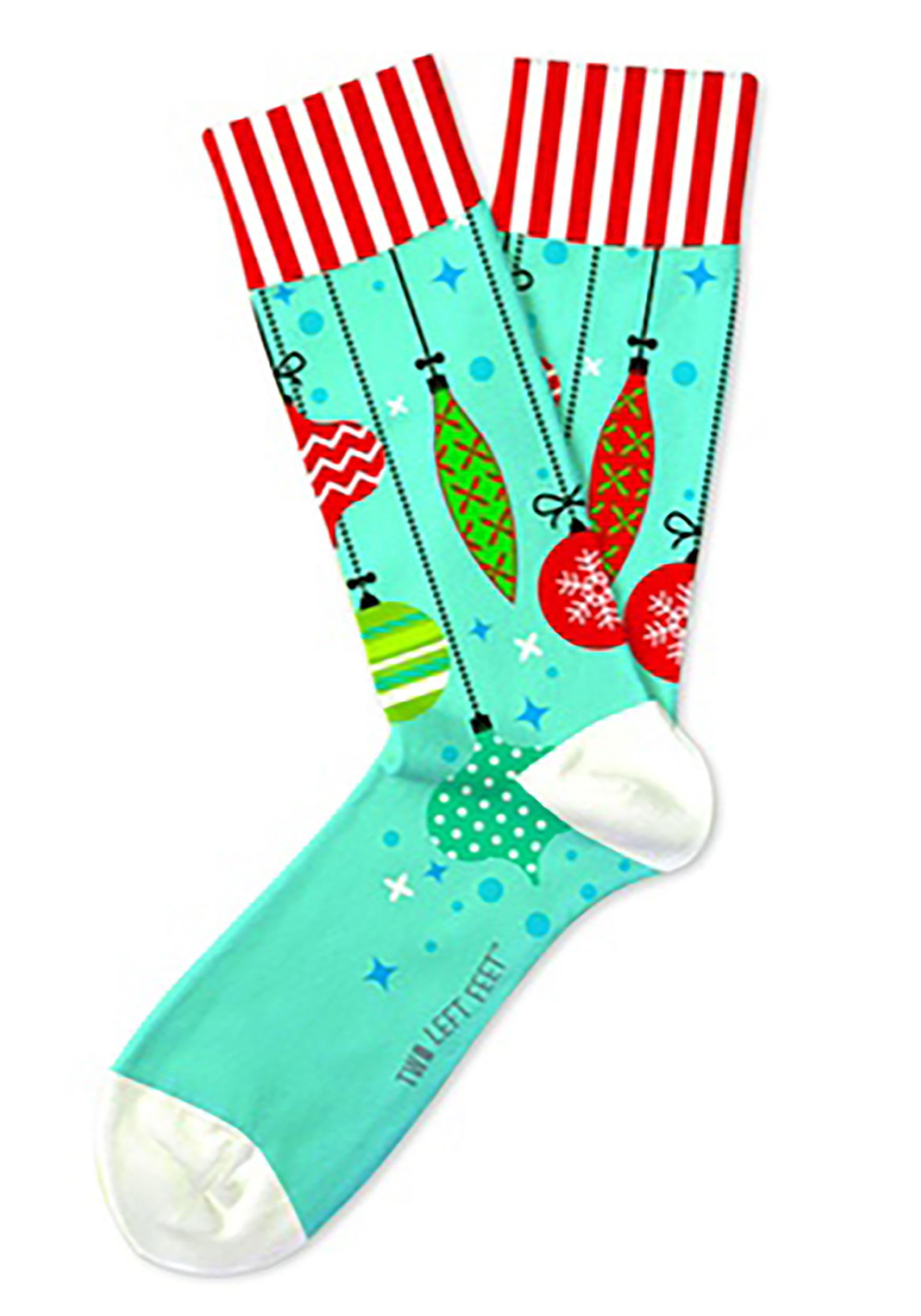 Trim-A-Tree Christmas Ornament Two Left Feet Adult Socks