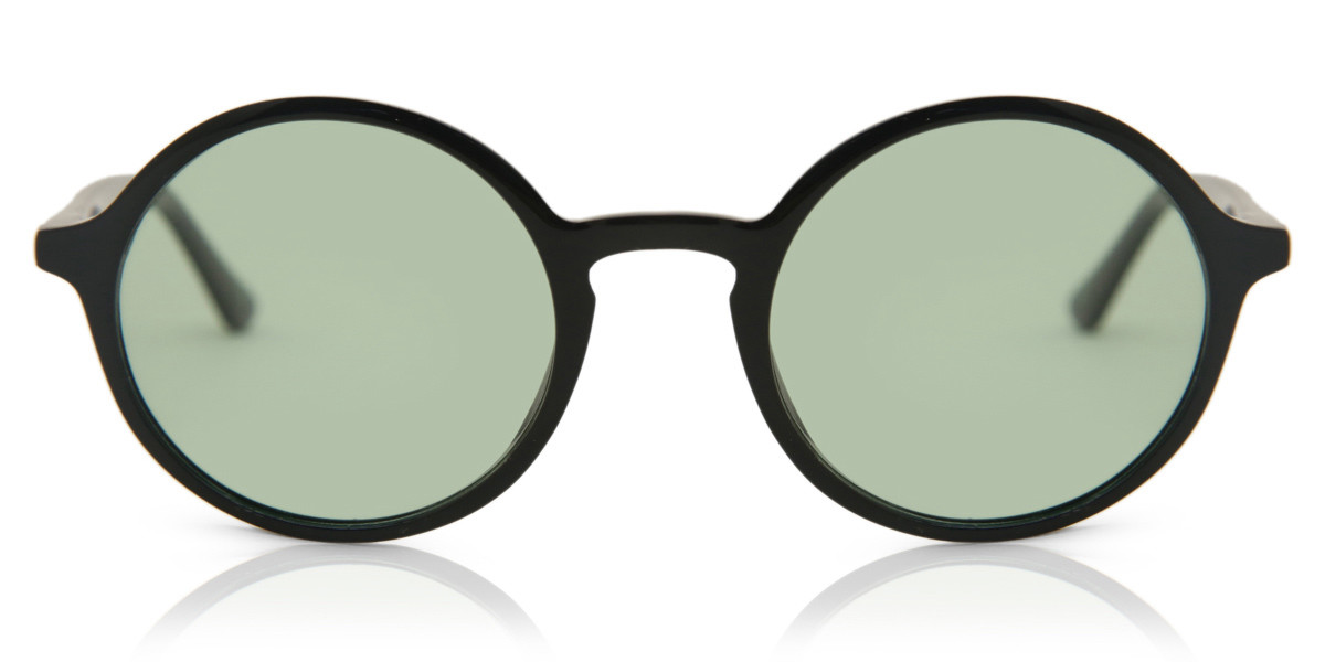 Oval Full Rim Plastic Women's Sunglasses Black Size 49 - Free Lenses - HSA/FSA Insurance - Arise Collective