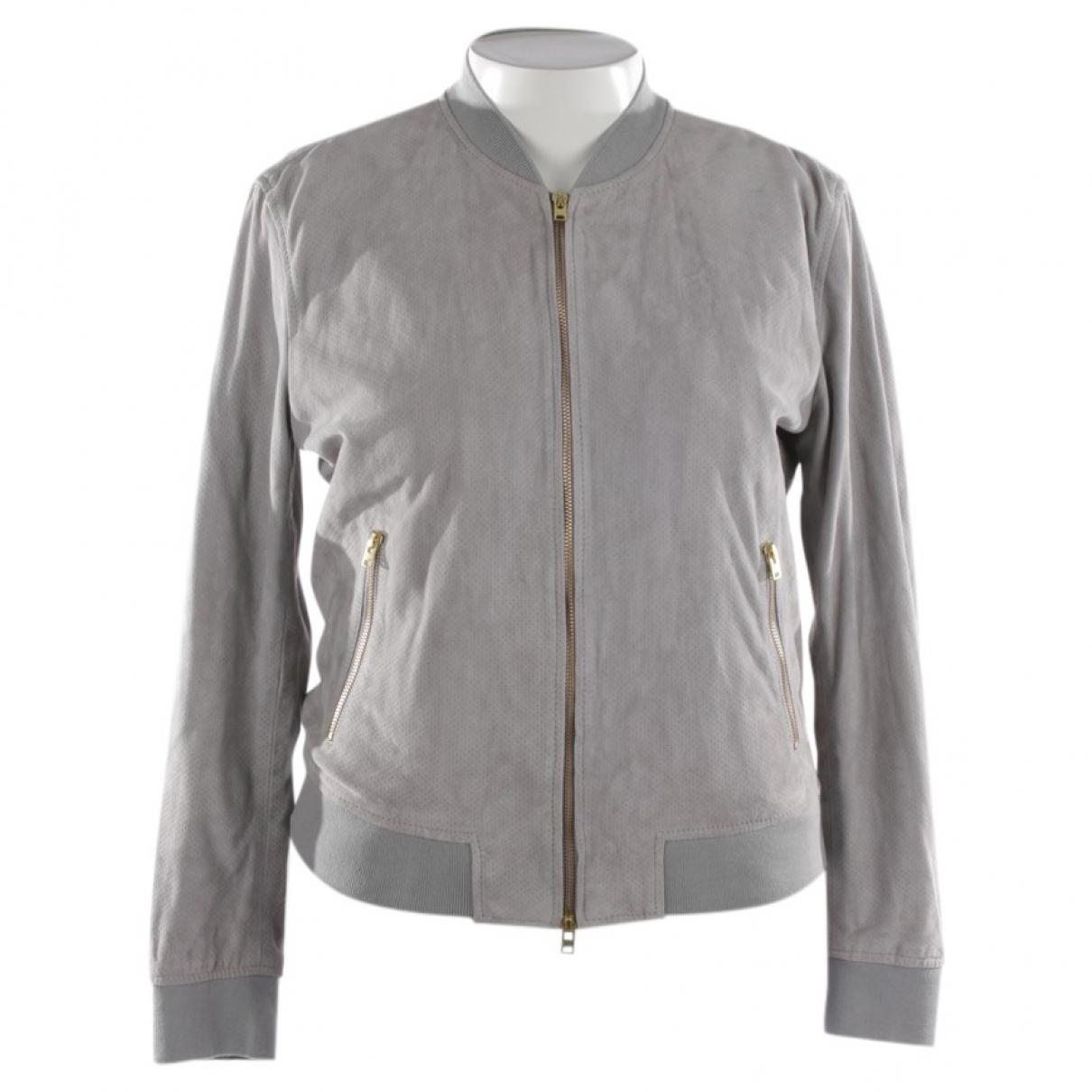 Closed - Veste   pour femme en cuir - gris